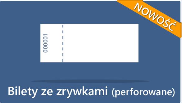 Druk biletów - bilety numerowane, bilety ze zrywkami